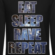 Design ~ Eat Sleep Rave Repeat Stars Crewneck Sweatshirt