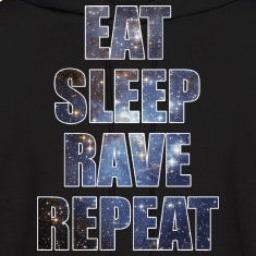 Eat Sleep Rave Repeat EDM Stars Design Hoodies