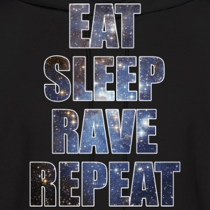 Eat Sleep Rave Repeat EDM Stars Design Hoodies - Men's Hoodie