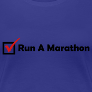 Design ~ WOMENS RUNNING T SHIRT - RUN MARATHON CHECK