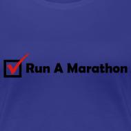 Design ~ WOMENS RUNNING T SHIRT - RUN MARATHON CHECK