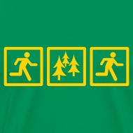 Design ~ MENS RUNNING T SHIRT - RUN FOREST RUN