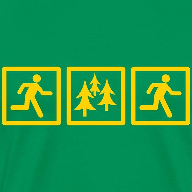 MENS RUNNING T SHIRT - RUN FOREST RUN