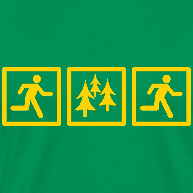 MENS RUNNING T SHIRT - RUN FOREST RUN