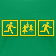 Design ~ WOMENS RUNNING T SHIRT - RUN FOREST RUN