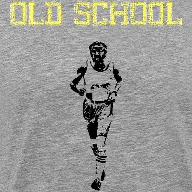 MENS RUNNING T SHIRT - OLD SCHOOL