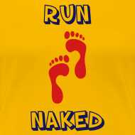 Design ~ WOMENS RUNNING T SHIRT - RUN NAKED