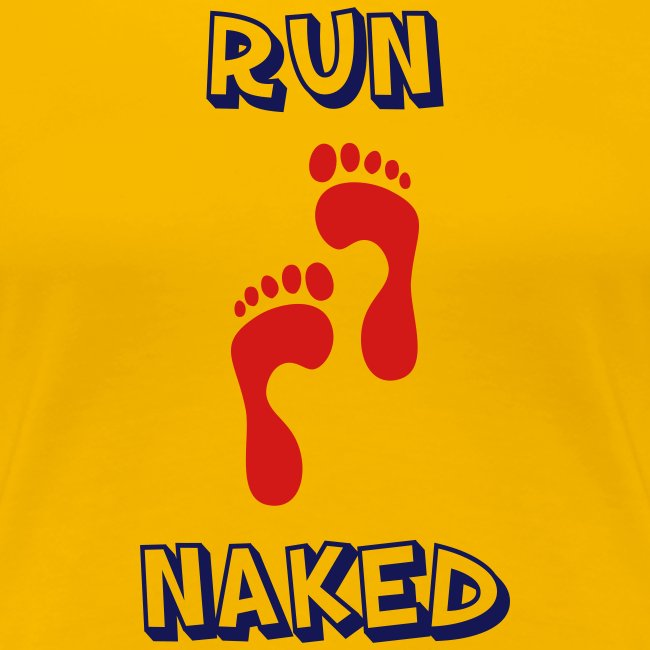 WOMENS RUNNING T SHIRT - RUN NAKED