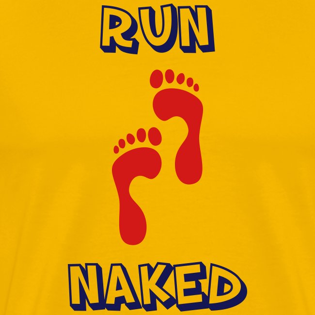 MENS RUNNING T SHIRT - RUN NAKED
