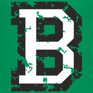 Letter B T-Shirt (Kids Green) Black/White - Kids' Premium T-Shirt