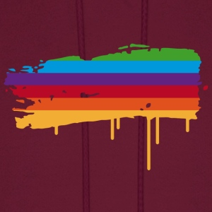 A rainbow flag as a graffiti Hoodies - Men's Hoodie