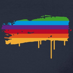 A rainbow flag as a graffiti Long Sleeve Shirts - Men's Long Sleeve T-Shirt