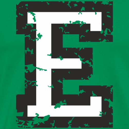 Letter E (Distressed) Black/White