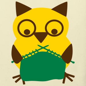 knitting owl Bags & backpacks - Eco-Friendly Cotton Tote