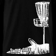 Design ~ Snow Disc Golf Shirt - White Print - Standard Weight Shirt