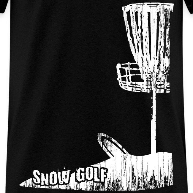 Snow Disc Golf Shirt - White Print - Standard Weight Shirt