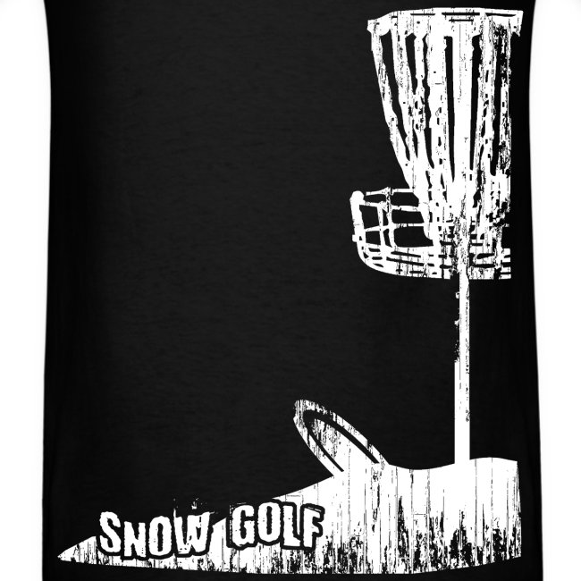 Snow Disc Golf Shirt - White Print - Standard Weight Shirt