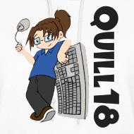 Design ~ Old School Quill18 (Ladies Hoodie)