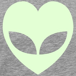 Alien Love Heart T-Shirts - Men's Premium T-Shirt