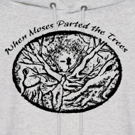 Design ~ When Moses Parted the Trees Disc Golf Hoodie - Adult