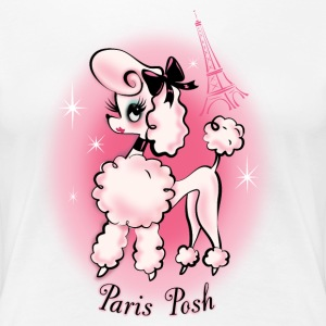 Paris Posh Poodle - Women's Premium T-Shirt