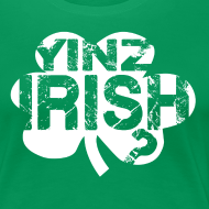 Design ~ Yinz Irish? Cutout - Women's T-shirt