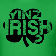 Design ~ Yinz Irish? Cutout - Men's T-shirt