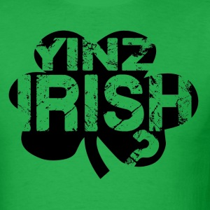 Yinz Irish? Cutout Black T-Shirts - Men's T-Shirt