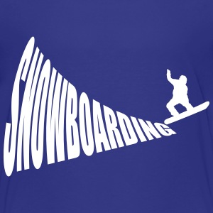 Snowboarding 1c Baby & Toddler Shirts - Toddler Premium T-Shirt