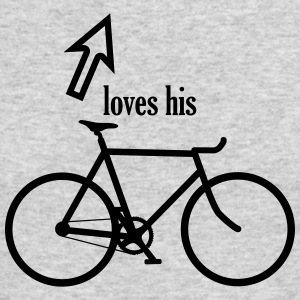 Loves his bicycle - Men's Long Sleeve T-Shirt by Next Level