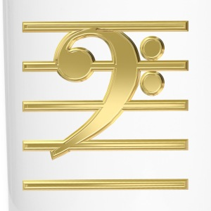 Golden bass clef Bottles & Mugs - Travel Mug