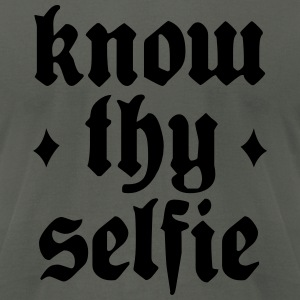 Know Thy Selfie - Men's T-Shirt by American Apparel