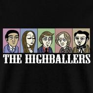 Design ~ The Highballers King of the Plains Cool Black T-Shirt (Mens)