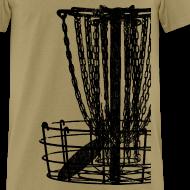Design ~ Disc Golf Basket Shirt - Black Print - Men's Standard Weight Shirt