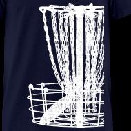 Design ~ Disc Golf Basket Shirt - White Print - Men's Standard Weight Shirt