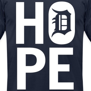 HOPE IN DETROIT T-Shirts - Men's T-Shirt by American Apparel