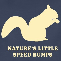 Squirrels. Nature little speed bumps Women's T-Shirts