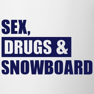 Sex Drugs Snowboard Accessories - Contrast Coffee Mug