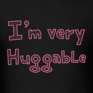 I'm very huggable in pink stripes T-Shirts - Men's T-Shirt