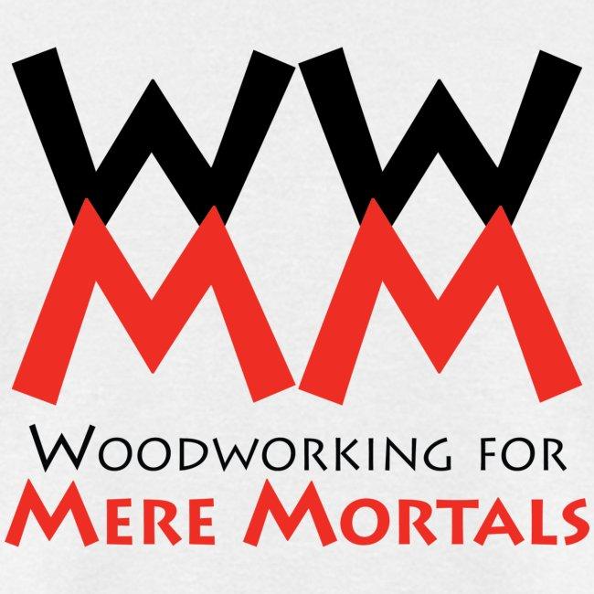 Woodworking for Mere Mortals logo shirt