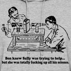 Sally Can't Fucking Science Hoodies