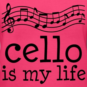 Cello Is My Life Music Women's T-Shirts - Women's V-Neck T-Shirt
