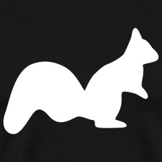 vigilant squirrel chipmunk silhouette T-Shirts