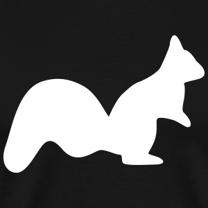 vigilant squirrel chipmunk silhouette T-Shirts - Men's Premium T-Shirt