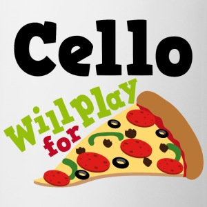 Cello Funny Pizza Music Quote Bottles & Mugs - Coffee/Tea Mug