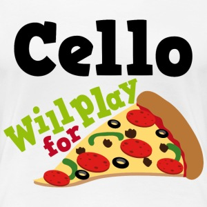 Cello Funny Pizza Music Quote Women's T-Shirts - Women's Premium T-Shirt