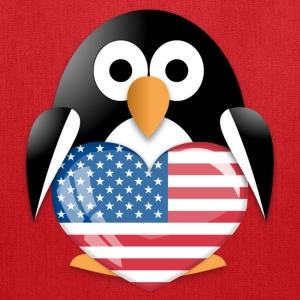 Penguin wit USA flag Bags & backpacks - Tote Bag