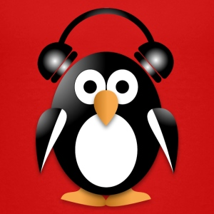 Funny penguin with headphones Baby & Toddler Shirts - Toddler Premium T-Shirt
