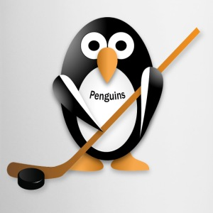 Penguin with a hockey stick Accessories - Contrast Coffee Mug