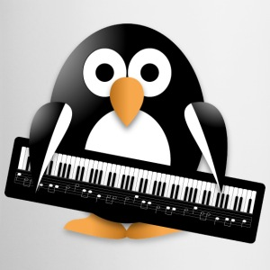 Penguin with a piano keyboard Accessories - Contrast Coffee Mug